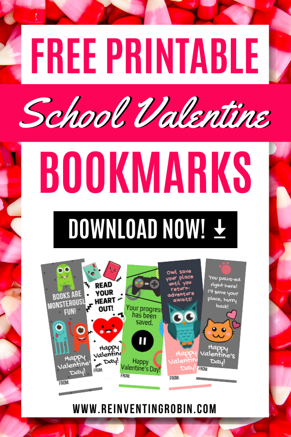 Free Printable School Valentine's Day Cards/Bookmarks Download Now