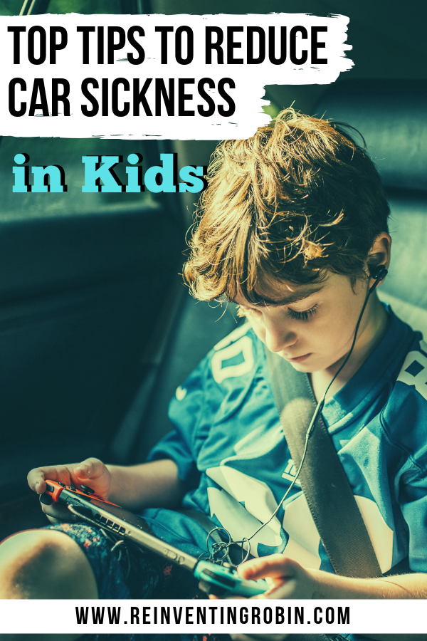 Top Tips to Reduce Car Sickness in Kids: Need some ideas on how to reduce car sickness? These are good for both kids and adults!
