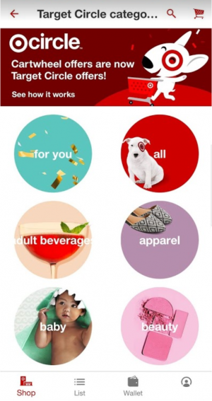 Screenshot of the Target Circle page in the Target shopping app.