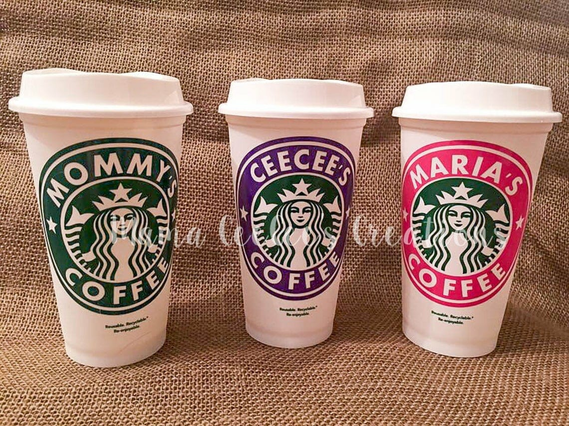Personalized Starbucks Coffee Cups